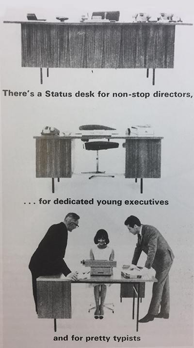 Office furniture ad. Robin Day. (1965)