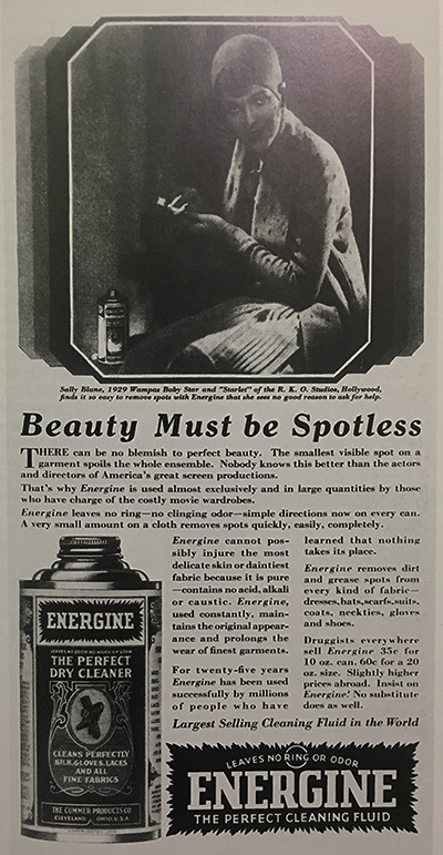 Advertisement for Energine, 1929. Ladies Home Journal, May.