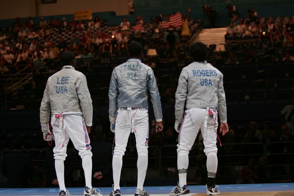 Team USA Men's Sabre Awaiting the bronze medal match against Russia