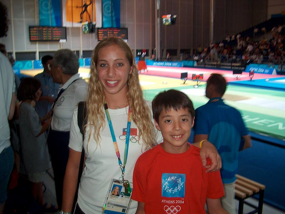 Alex Massialas and Mariel Zagunis at the Athens Olympics