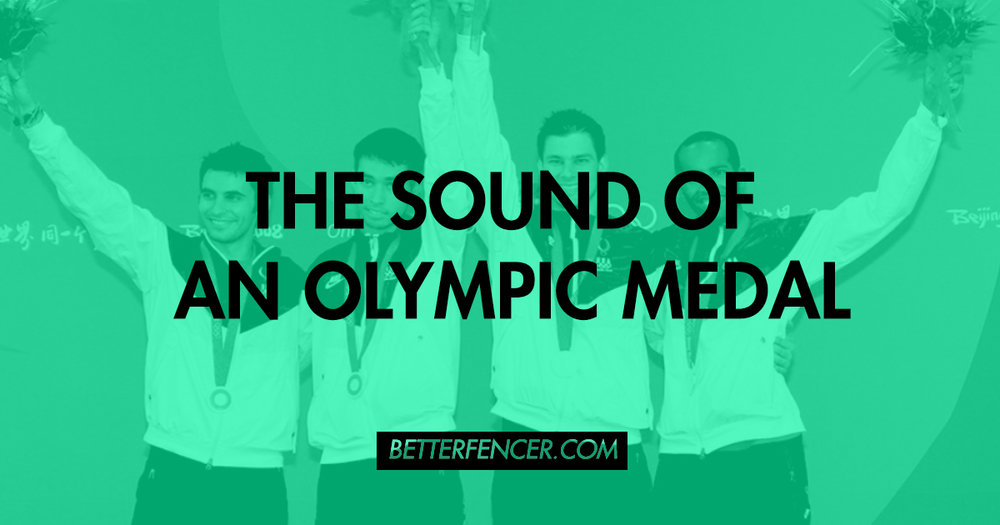 THE SOUND OF AN OLYMPIC MEDAL - US Men's Sabre On Podium
