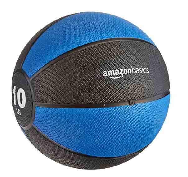 10 pound medicine ball from Amazon