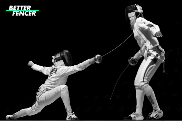 Fencer Performing a Lunge