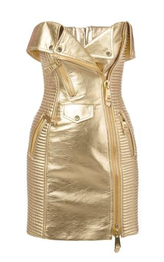 Moschino Gold Biker Dress