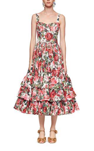 Ruffle Rose Poplin Dress