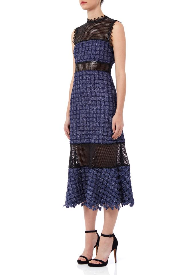 Self-Portrait Ava Midi Dress With Lace Insert