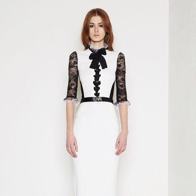 Monochromatic elegance in Alexandra Rich. Rent the look on oprent.com #LoveItReserveIt
