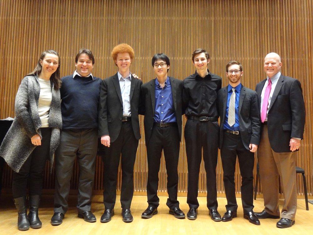 from left: Elina Chekan, Rene Izquierdo, Andrew Poxon (1st), Yeram Yoon (2nd), Adam Sutorius (4th) and Brian King (3rd), James Stroud