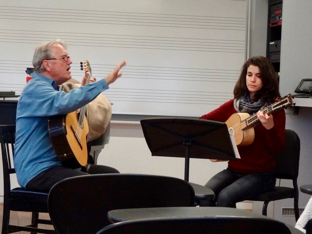 Senior, Rebecca Klein played a Chaconne by Francesco Guerau on the Baroque guitar.
