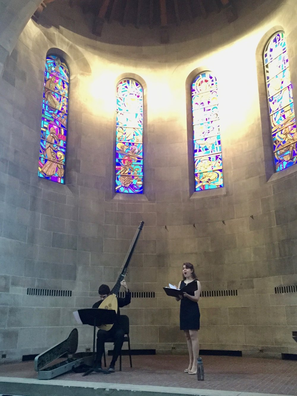 Collin Sterne and Abigail Hakel-Garcia perform Caccini