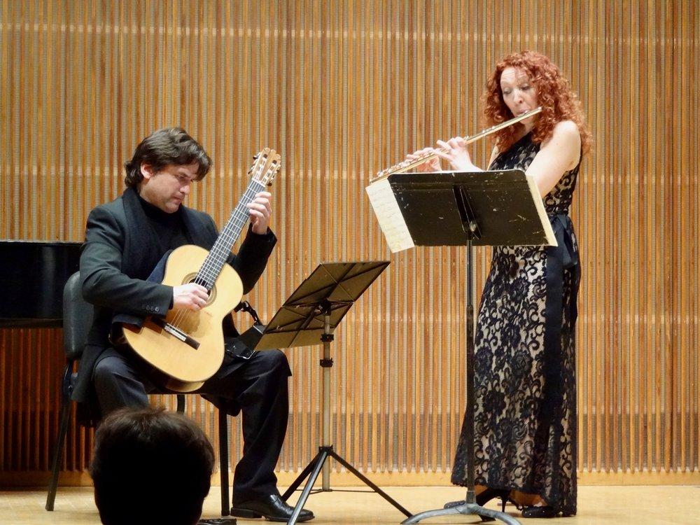 Rene Izquierdo with Eugenia Moliner, in Kulas Recital Hall