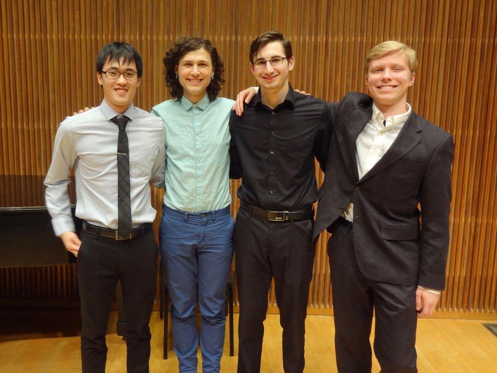 THE WINNERS: Yeram Yoon, Julia Humphrey, Adam Sutorius and Aidan Wiley Lippke