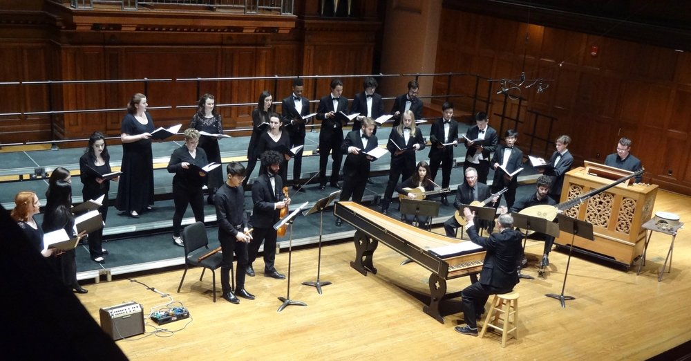 The Baroque ensemble performs Flecha