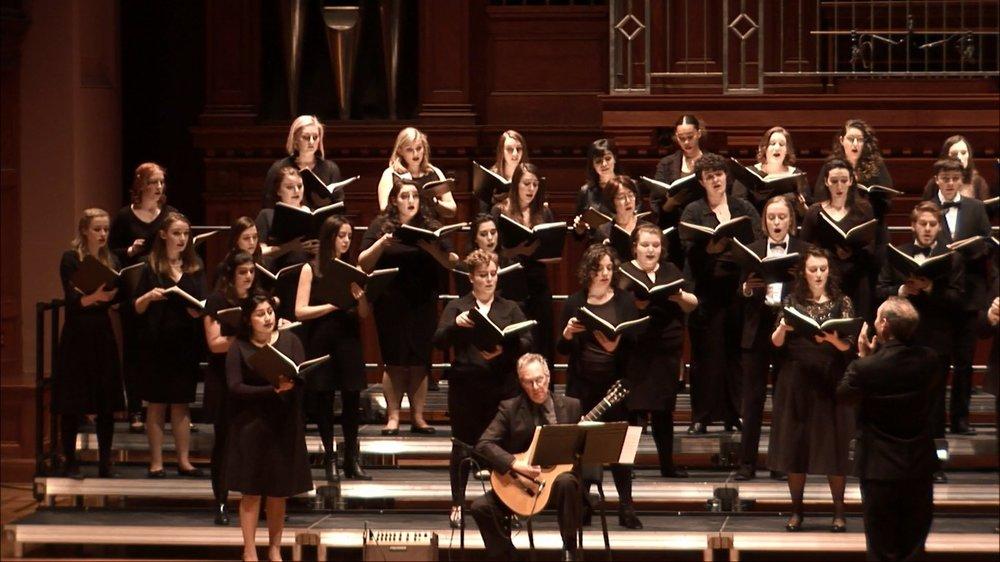 Aron plays Castelnuovo-Tedesco with the Concert Choir
