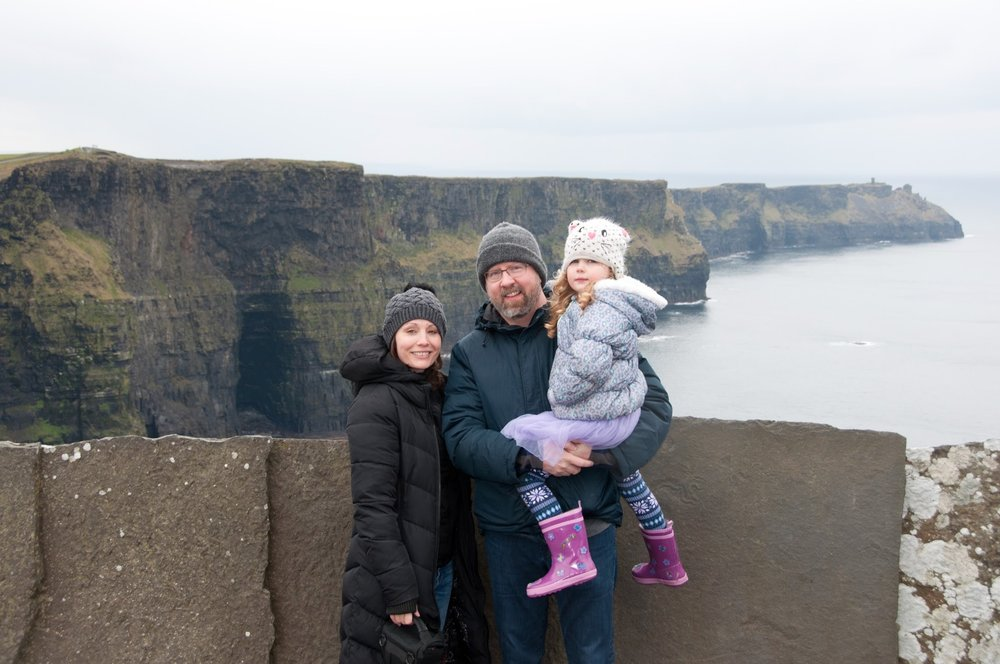 Adam, Marla and Nina, 4, in Ireland