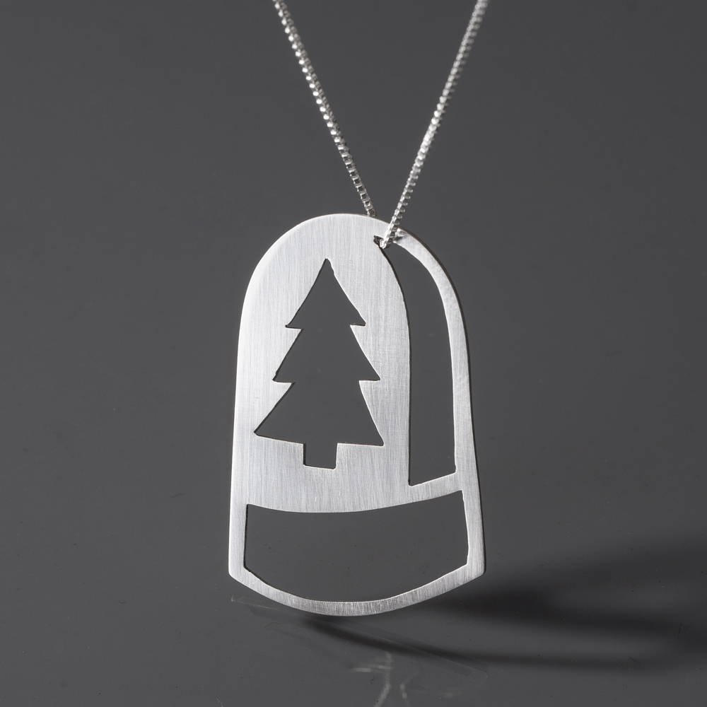 Pine Time Dome Necklace