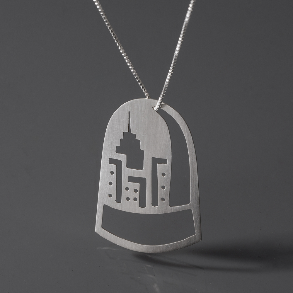 City Never Sleeps Dome Necklace