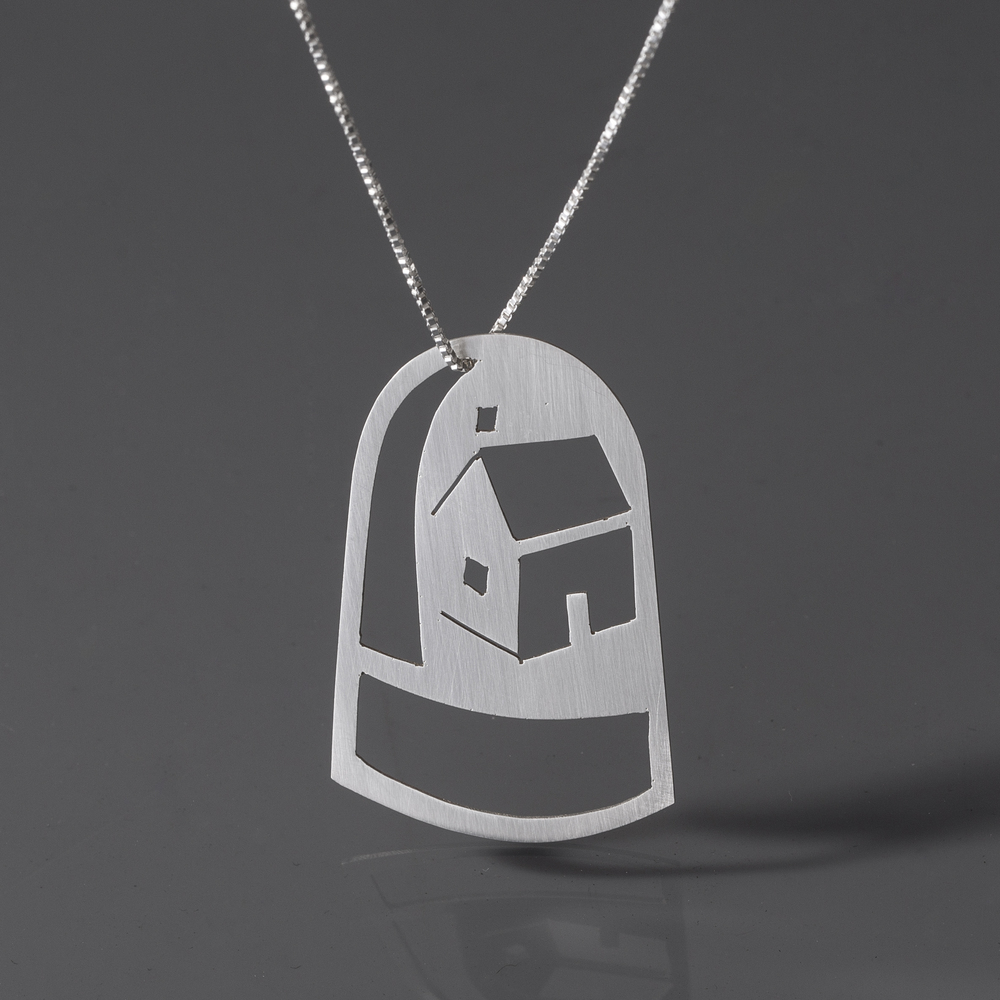 Home Sweet Home Dome Necklace