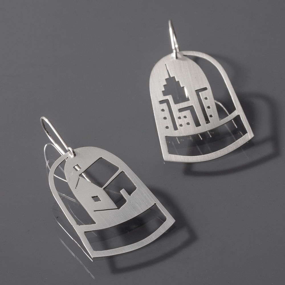 City to Country Dome Earrings