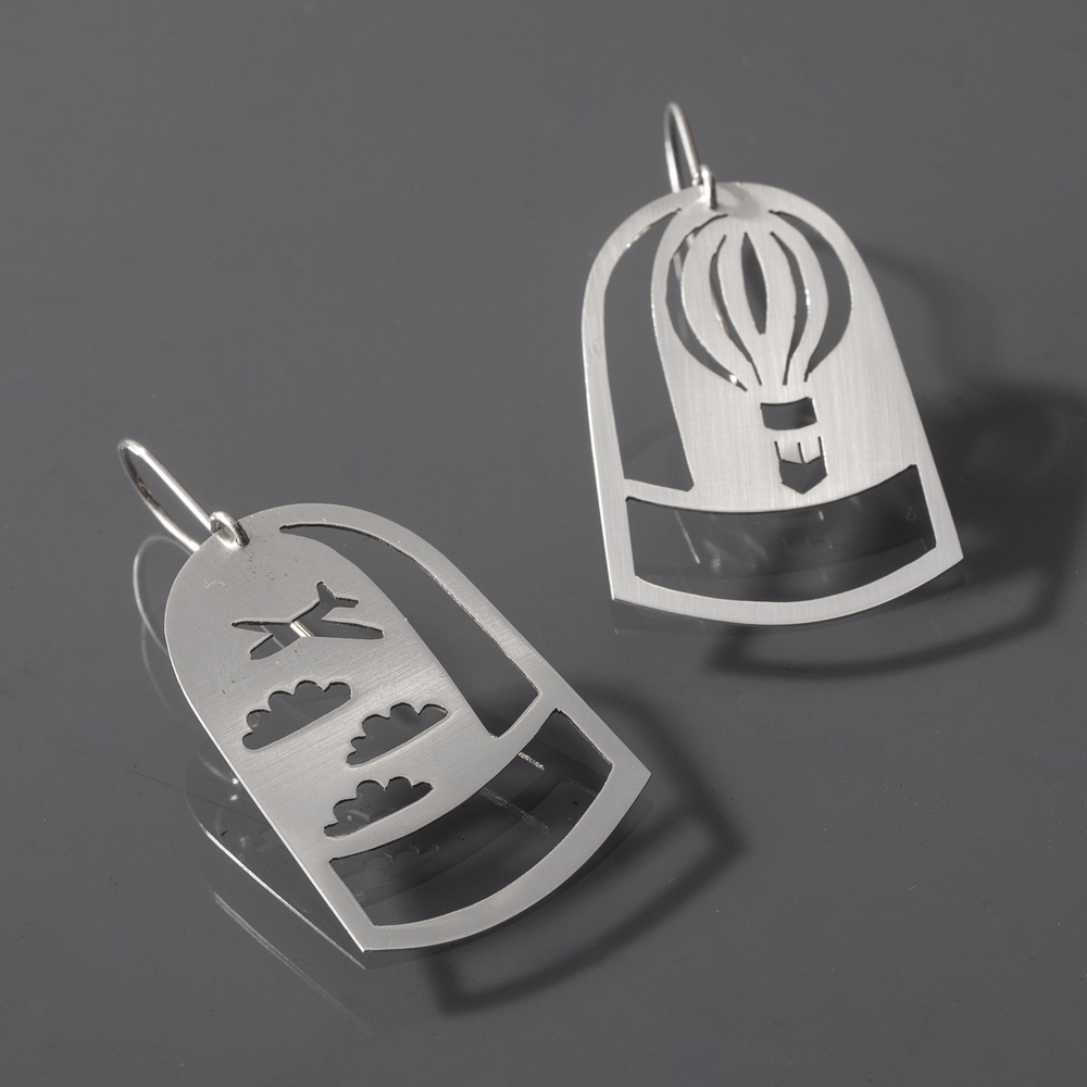 Up, Up and Away Dome Earrings
