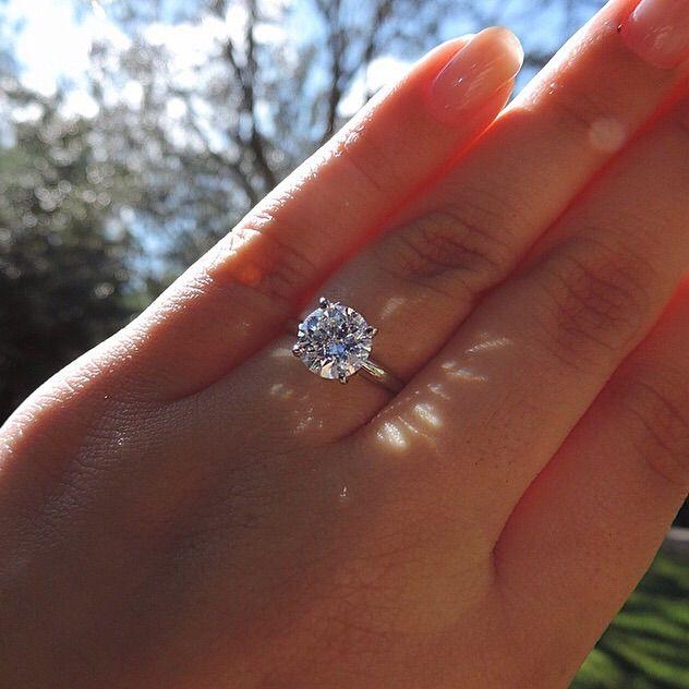 18ct White Gold 2ct Diamond Ring Hunt Co