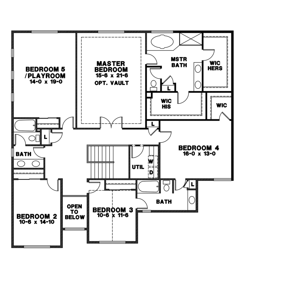 Homesite 10 - Uppler Floor Drawing - Custom Home for sale in Maple Valley