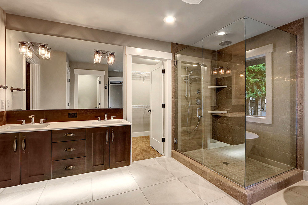 Master Suite Bathroom - Dual Vanity, Glass Shower Enclosure,  and Walk-In Closet #1
