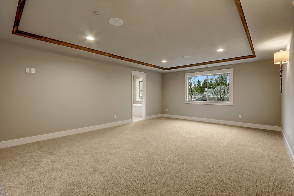 Master Bedroom Suite - Coffered Ceiling with Recessed Lighting
