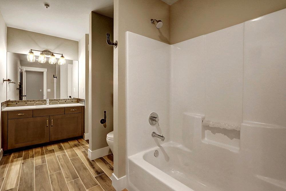 Upstairs Bath With Single Vanity