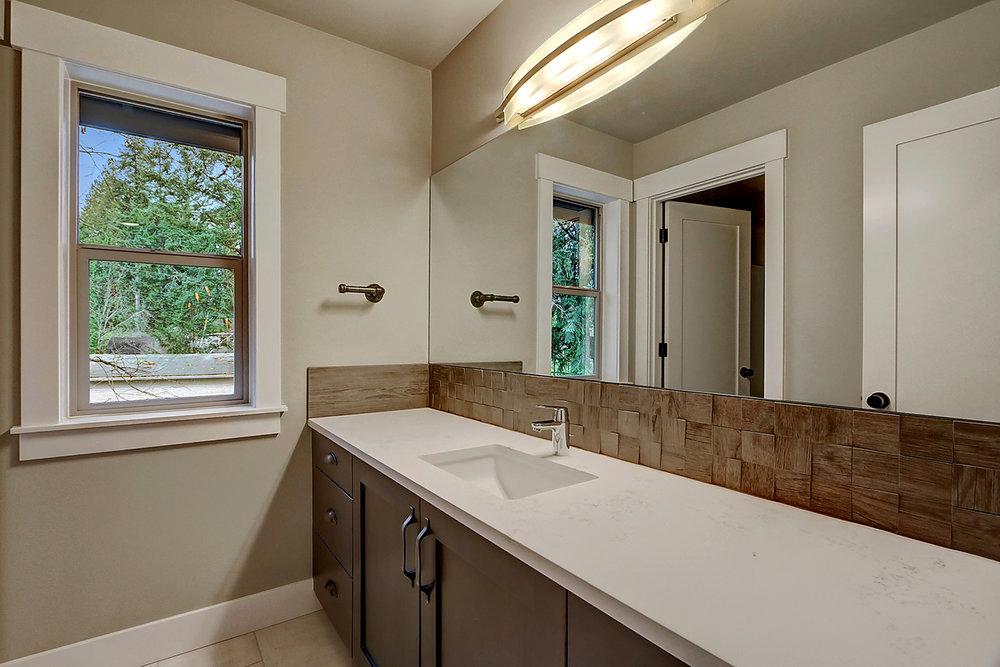 Upstairs Bathroom with Dual Vanity