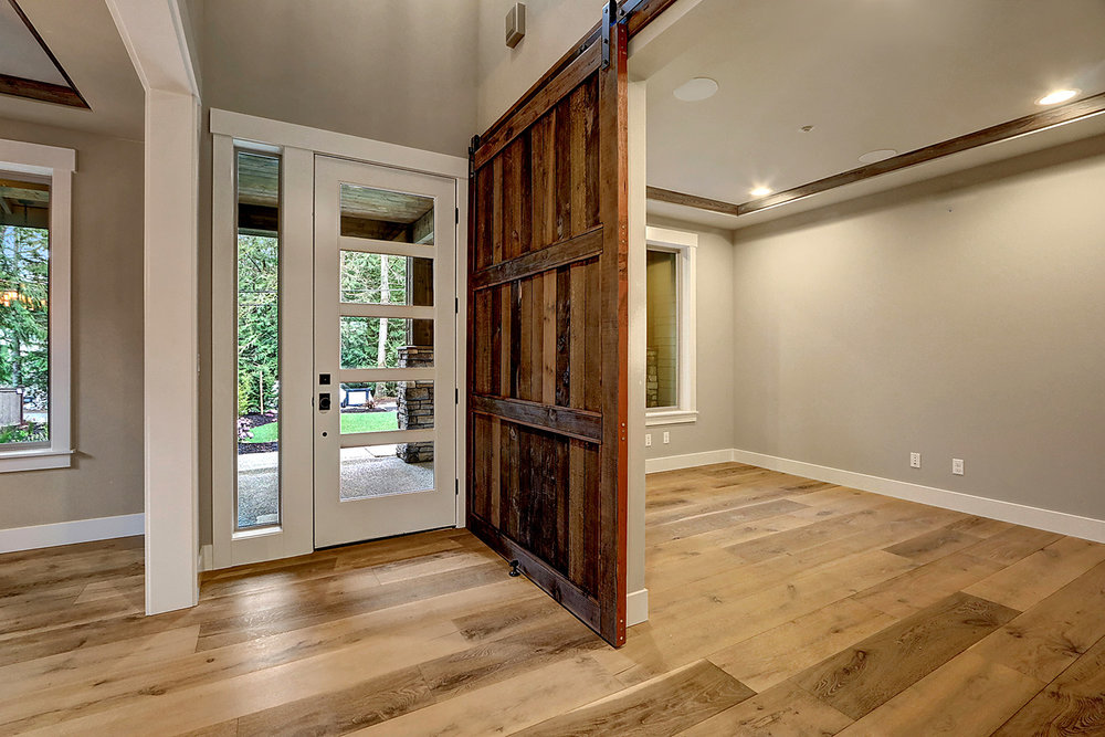 Study with Sliding Barn Door Entry