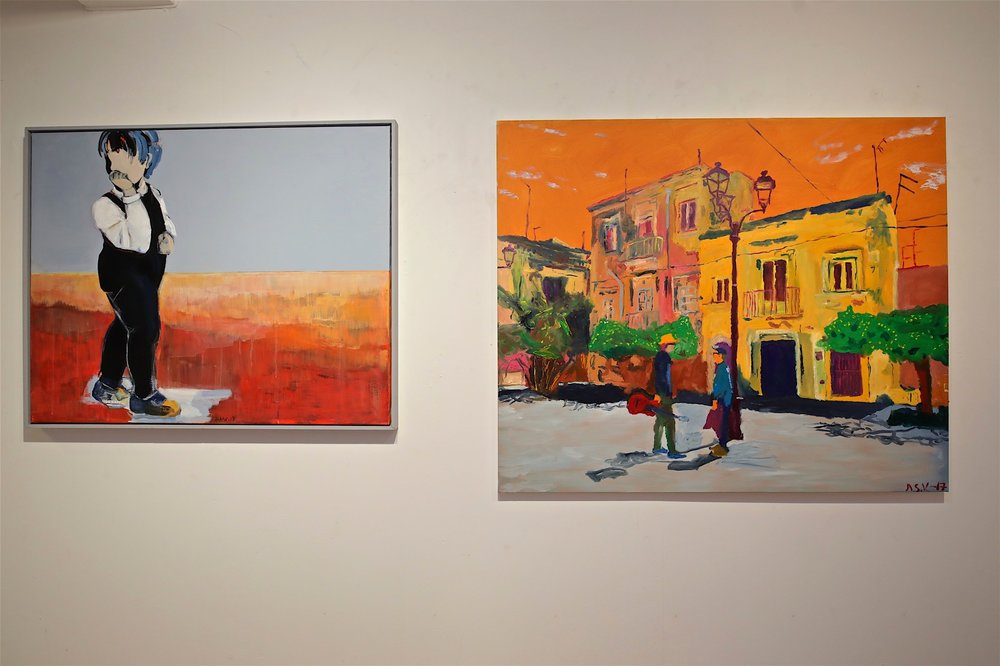 My art to the right.