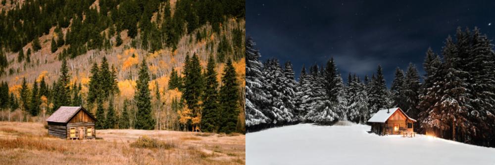 BLUERIDGE imagery corresponds to the current season.