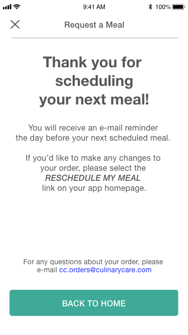 Meal confirmation
