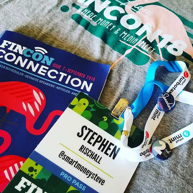 #FinCon18 starts now, lots to learn from all my money and media friends!
