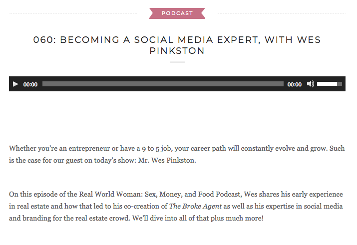 BECOMING A SOCIAL MEDIA EXPERT, WITH WES PINKSTON - Whether you're an entrepreneur or have a 9 to 5 job, your career path will constantly evolve and grow. Such is the case for our guest on today's show: Mr. Wes Pinkston.