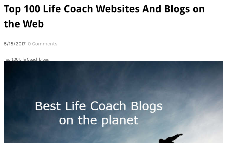 Top 100 Life Coach Blogs On The Web -