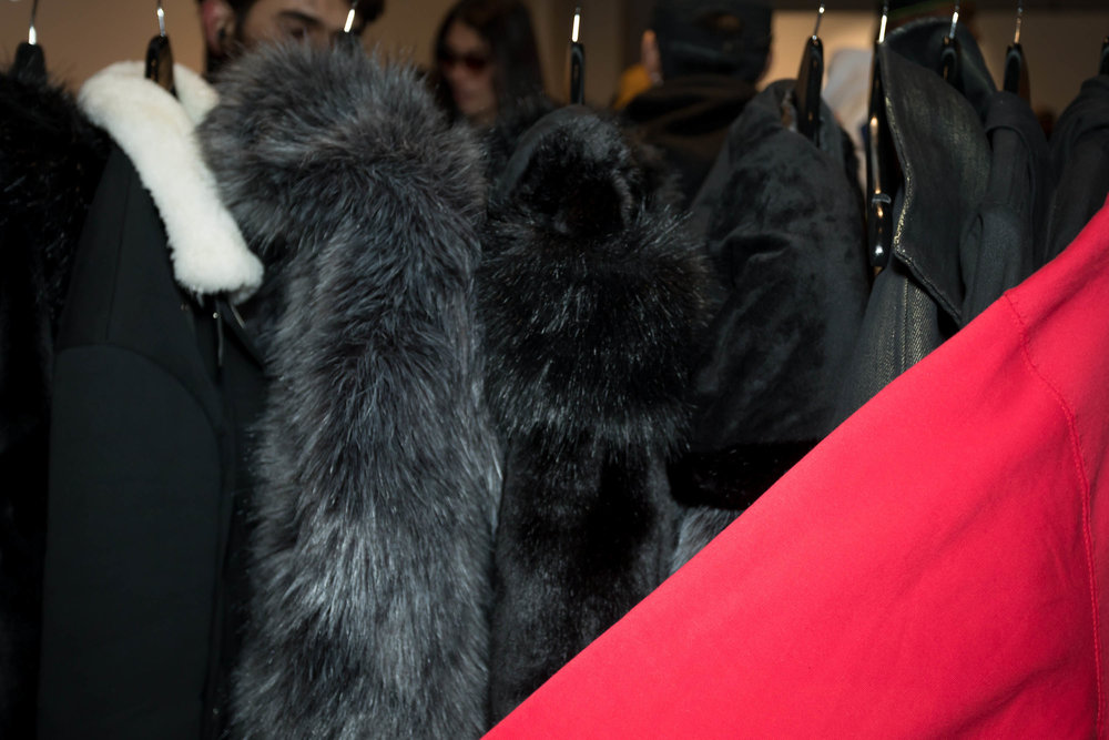 A sneak peak into a vegan fur collection that will be releasing AW19. Shoppers had a chance to preorder on the spot.