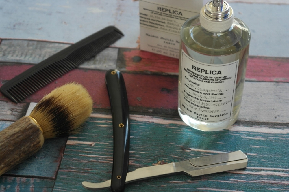 What says fresh and clean better than a fresh cut at the barber shop?   Maison Martin Margiela's At the Barber's  says it all one 100 milliliter bottle.  Feel and smell the clean notes of lavender, basil, tonic bean, and white musk all delivering a nostalgic memory of our favorite barbershop.  This scent is sure to take you back to the faint memories of your last clean shave.  Our founder,  Alan King , is devoted to this scent and its familiar notes of a clean shave.  He suggests that a spritz of  At the Barbershop  is all you for a day filled with business meetings and formal dinners.