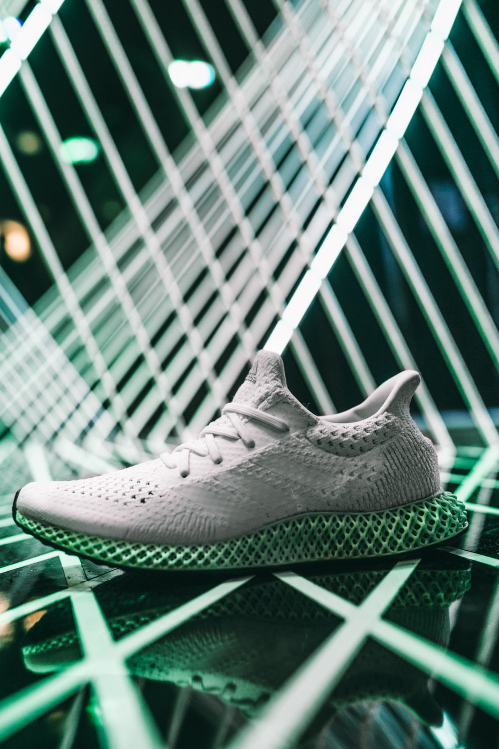 Adidas Futurecraft 4D in All-White,  Photo by  Josh Sobel