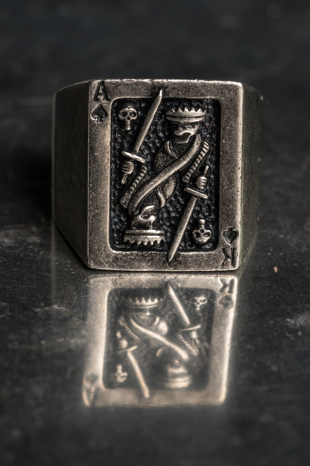 Signature AK Playing Card Ring.