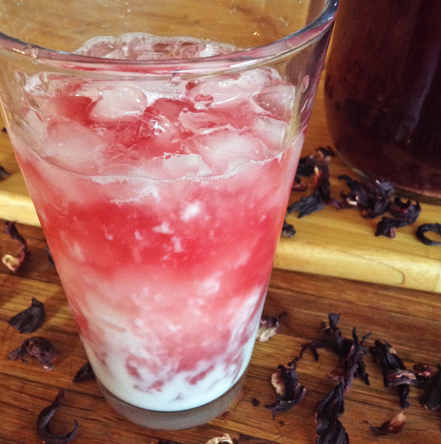 hibiscus drink recipe and hibiscus soda with kombucha for keto drinks
