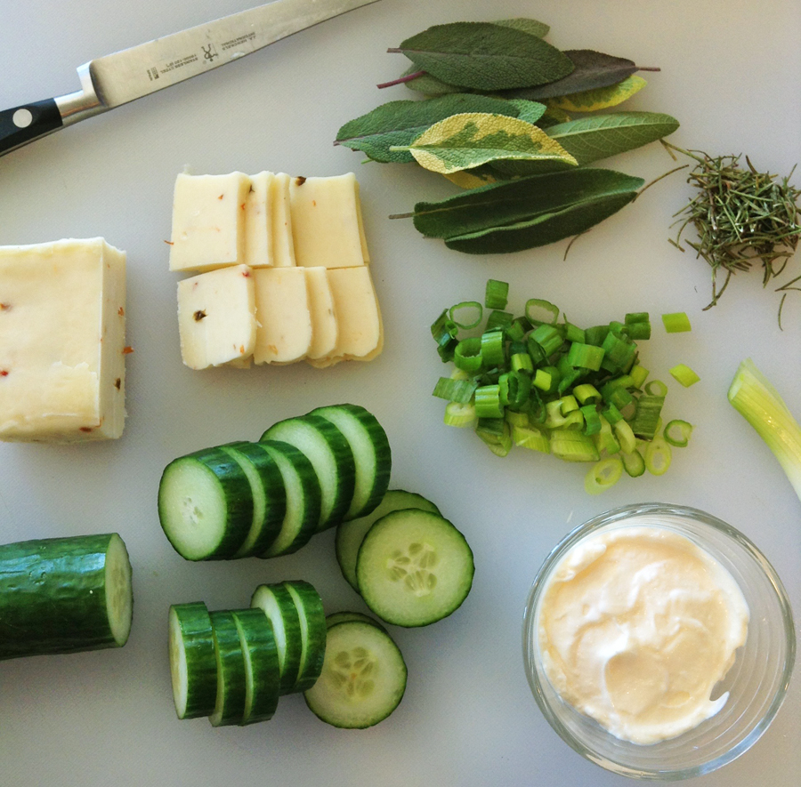 cucumber and cheese for an easy keto snack recipe