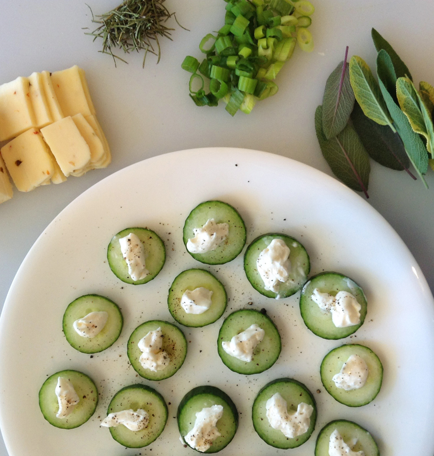 cucumbers and cheese for keto snacks