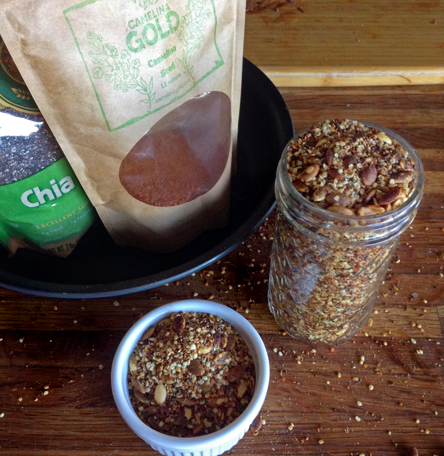keto condiment recipe and toasted keto seeds