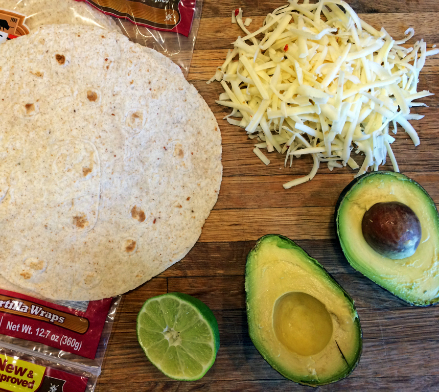easy keto quesadilla recipe with bacon avocado and other keto ingredients