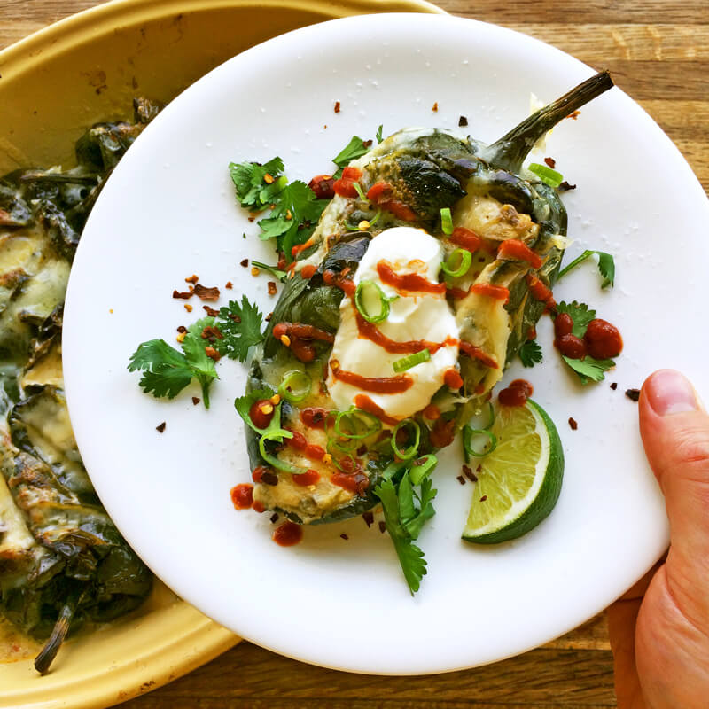 Quick and simple keto dinner idea with low carb chili rellenos. Make this easy dinner recipe on the ketogenic diet.