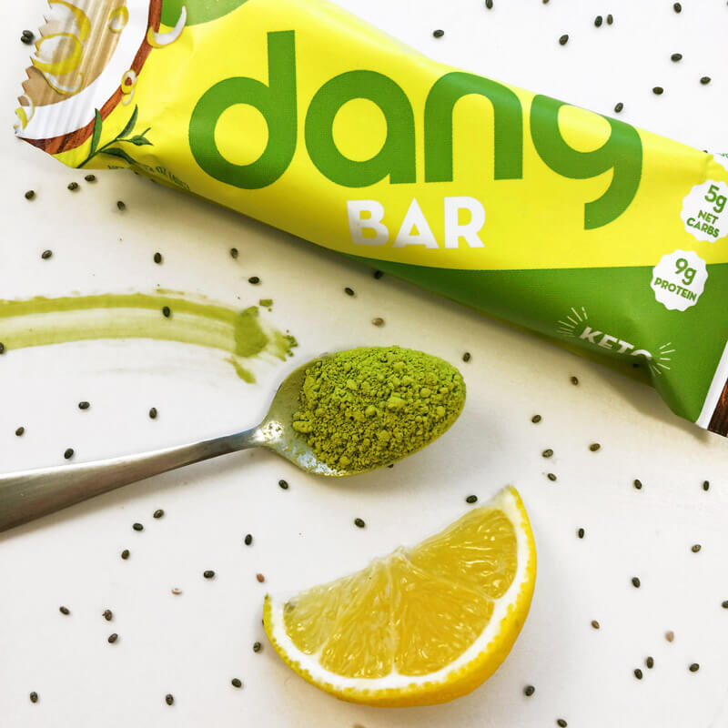 Lemon matcha keto dang bar