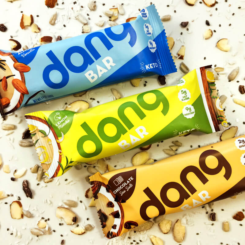 Variety pack of dang bars for the keto diet