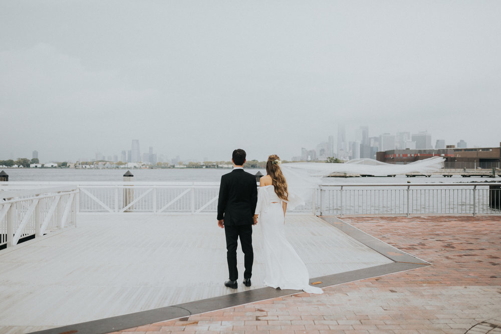 CAITLYN + DAN // BROOKLYN, NYC LIBERTY WAREHOUSE WEDDING -